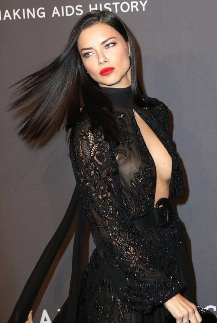 Model Adriana Lima attends the 19th Annual amfAR New York Gala at Cipriani Wall Street on February 8, 2017 in New York City. (Photo by Splash News and Pictures)