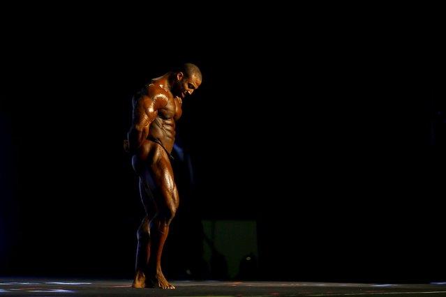 U.S bodybuilder Cedric McMillan poses during the Arnold Classic Brazil 2015 in Rio de Janeiro, May 30, 2015. REUTERS/Ricardo Moraes