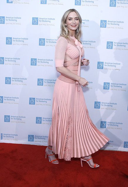 Emily Blunt attends 13th Annual American Institute for Stuttering Benefit Gala at Guastavino's on July 11, 2019 in New York City. (Photo by John Lamparski/Getty Images)