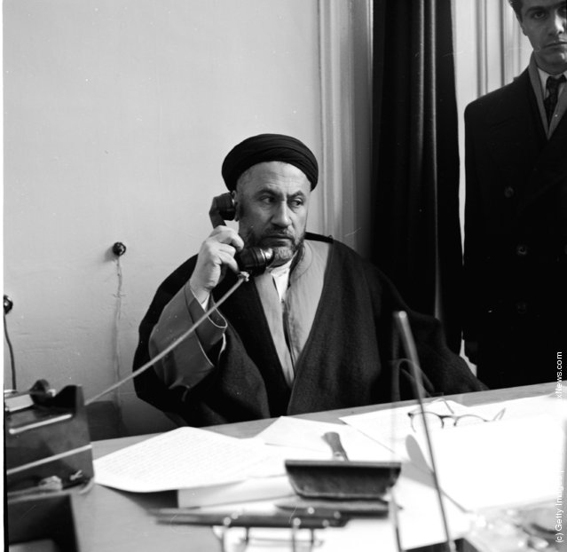 1948:  The leader of the Iranian Moslems Doctor Hamed in his office in Tehran
