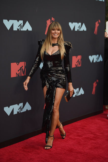 Heidi Klum attends the 2019 MTV Video Music Awards at Prudential Center on August 26, 2019 in Newark, New Jersey. (Photo by Dimitrios Kambouris/Getty Images)