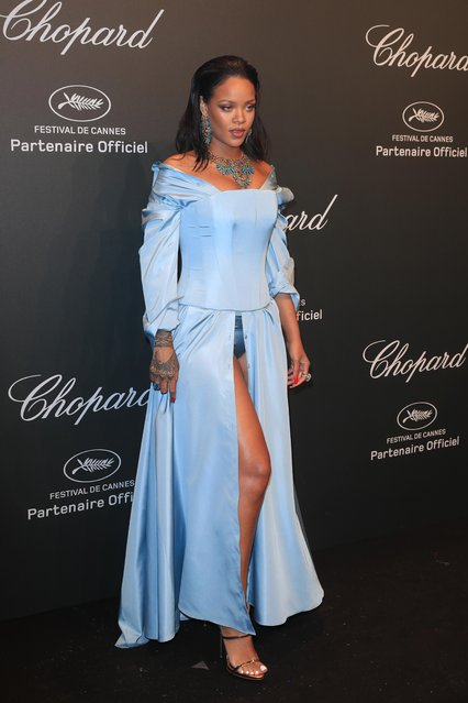 Rihanna attends the Chopard Party during the 70th annual Cannes Film Festival at on May 19, 2017 in Cannes, France. (Photo by Antonio de Moraes Barros Filho/FilmMagic)