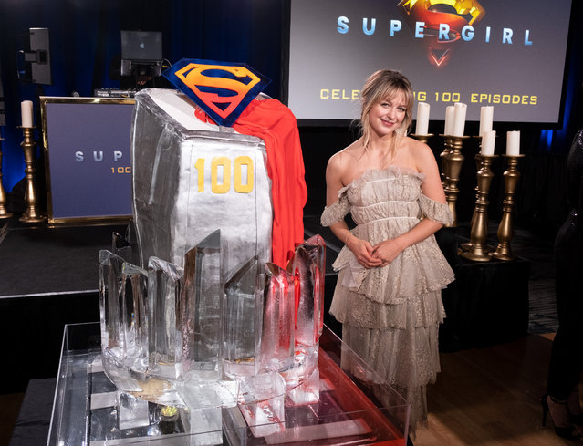 Supergirl star Melissa Benoist attends the 100th episode celebration at the Fairmont Pacific Rim Hotel on December 14, 2019 in Vancouver, Canada. (Photo by Phillip Chin/Getty Images for Warner Brothers Television)