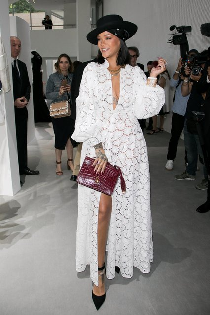 """Singer Rihanna attends the """"Young Fashion Designer"""" : LVMH Prize 2017 Edition at Fondation Louis Vuitton on June 16, 2017 in Paris, France. (Photo by Bertrand Rindoff Petroff/Getty Images)"""