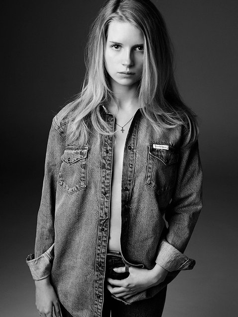Lottie Moss for Calvin Klein: The 16-year-old looks fresh. (Photo by Michael Avedon)