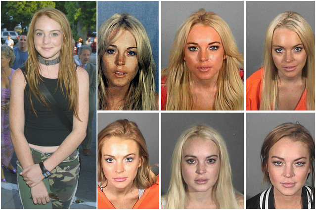 "After a huge string of commercials, a stint on ""Another World"" and ""The Parent Trap"", Lindsay Lohan burst into the Hollywood mainstream in 2004 with ""Mean Girls."" Since then, by the numbers: Lilo has appeared in court 20 times, seen four different judges who have found her in violation of her probation and was incarcerated for less than two weeks in her six separate trips to the Los Angeles County jail. Phew. (Photo by Getty Images/Everett Collection)"