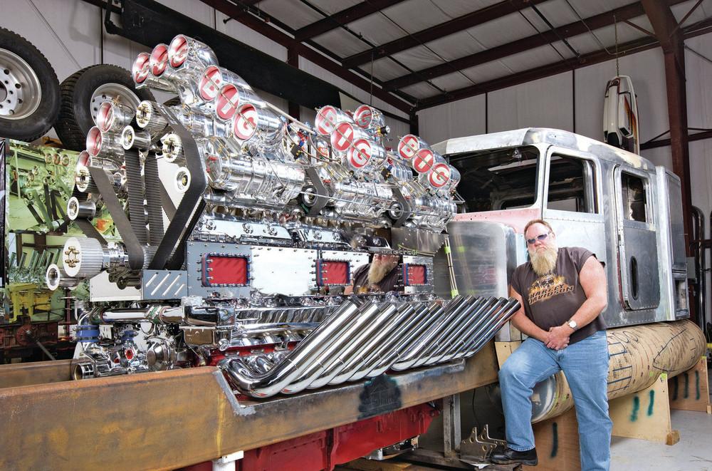 Supercharged 24 Cylinder Engine