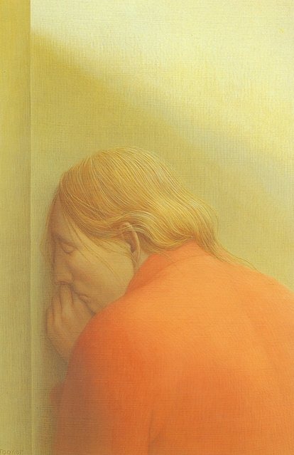 Woman At The Wall. Artwork by George Tooker