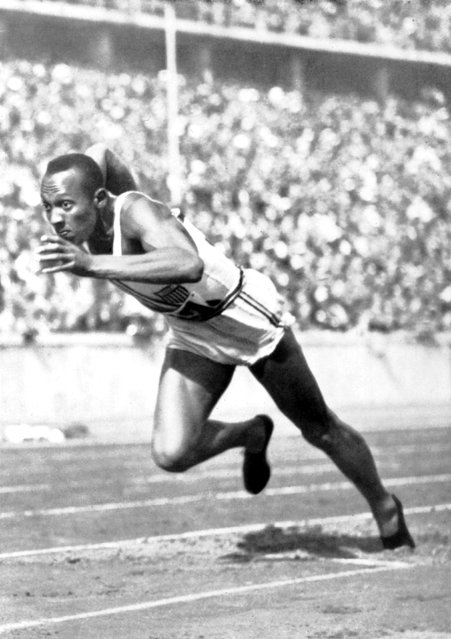 Berlin Olympic Games, Jesse Owens, the fastest runner in the world, 1936, Germany. (Photo by AFP Photo)