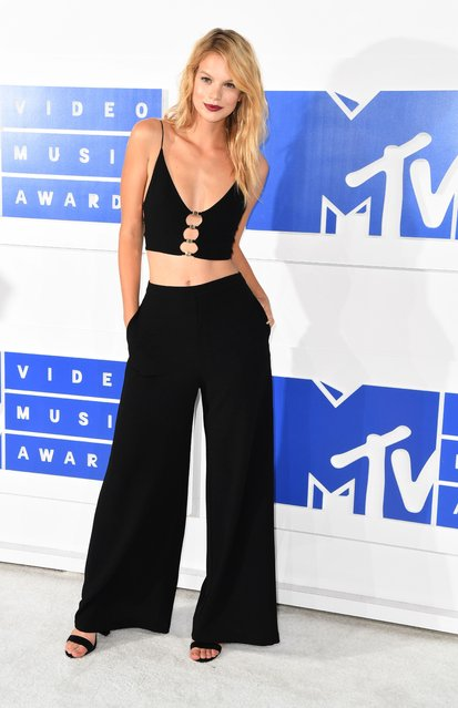Nadine Leopold attends the 2016 MTV Video Music Awards on August 28, 2016 at Madison Square Garden in New York. (Photo by Angela Weiss/AFP Photo)