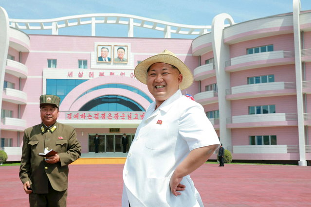 Handout photo of North Korean leader Kim Jong Un providing field guidance to the Wonsan Baby Home and Orphanage in Pyongyang, North Korea on June 3, 2015. (Photo by Reuters/KCNA)