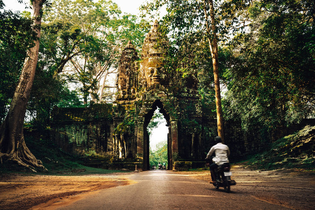 One of the 5 gates of Angkor Thom. (Photo by Alex Teuscher/Caters News)