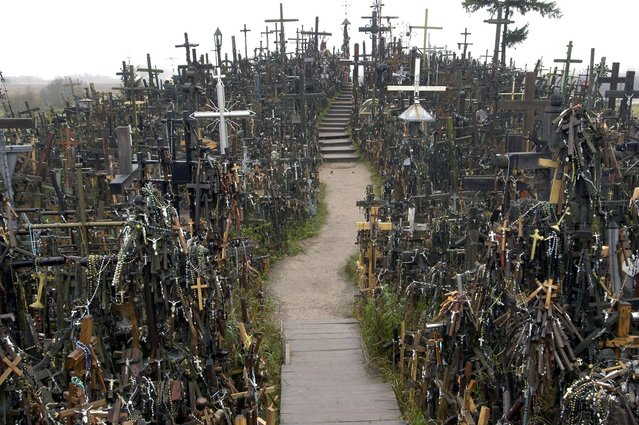 The city of Siauliai in Lithuania has been a place of pilgrimage for hundreds of years. (Photo by Richard Gardner/Rex USA)