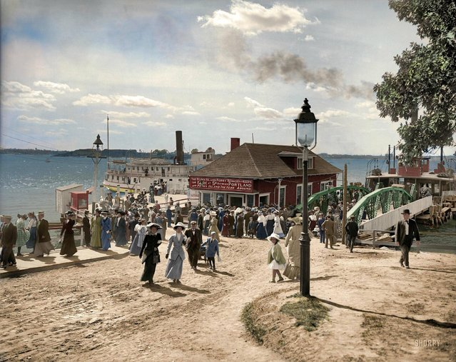 Forest City Landing, Peaks Island to Portland, Maine, 1910.