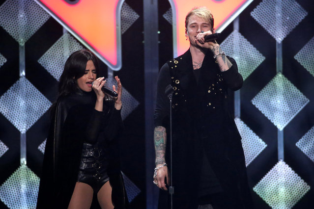 Machine Gun Kelly and Camila perform at Z100's Jingle Ball in Manhattan, New York, U.S., December 9, 2016. (Photo by Andrew Kelly/Reuters)