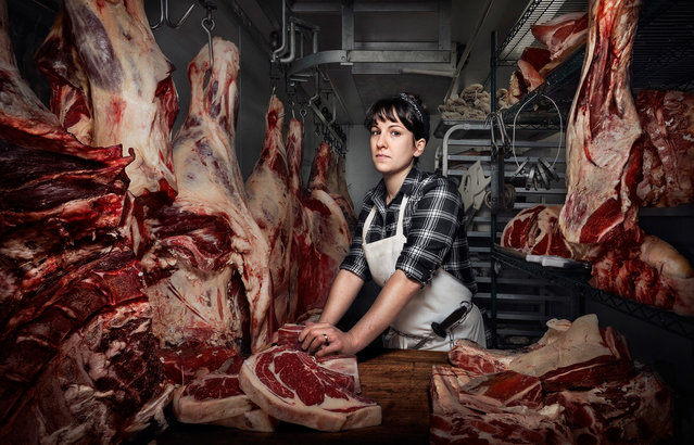 Heather Marold Thomason, butcher and owner of Primal Supply Meats in Philadelphia, Pennsylvania. (Photo by Chris Crisman/The Guardian)