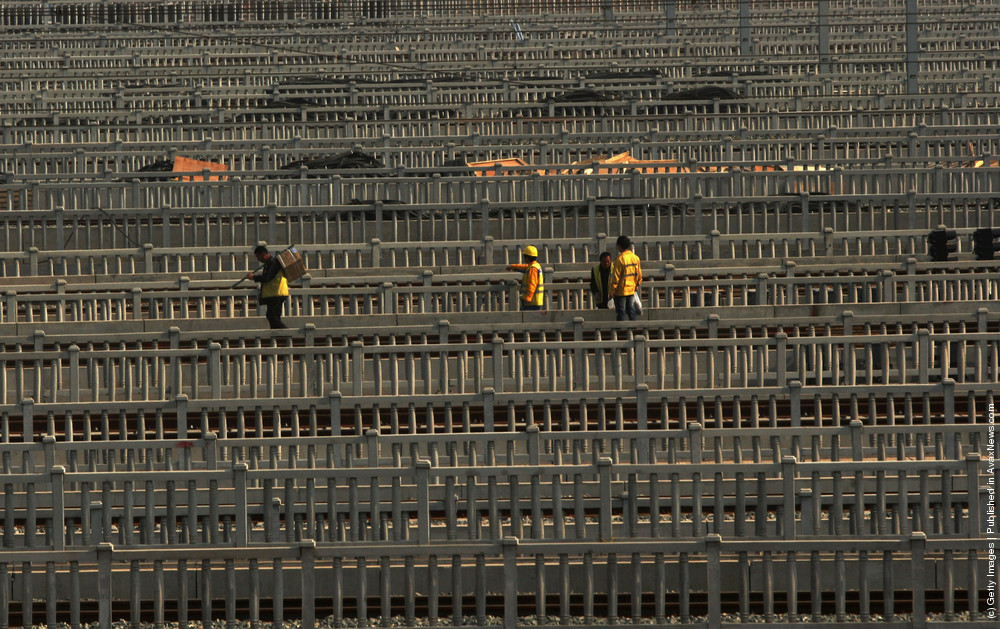 Construction Continues On The Beijing-Shanghai High-Speed Railway