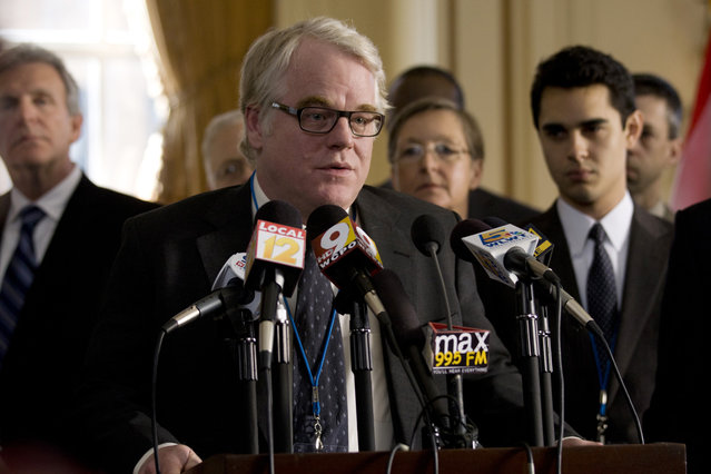 """""""The Ides Of March"""", Philip Seymour Hoffman, 2011. (Photo by Saeed Adyani/Columbia Pictures/Everett Collection)"""