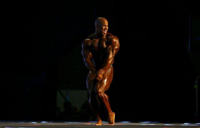REFILEDominican bodybuilder Victor Martinez poses during the Arnold Classic Brazil 2015 in Rio de Janeiro, May 30, 2015. REUTERS/Ricardo Moraes
