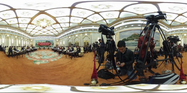 A general view of the Fujian province delegation's group meeting during the annual National People's Congress at the Great Hall of the People on March 6, 2017 in Beijing, China. (Photo by Lintao Zhang/Getty Images)