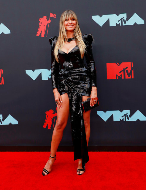 Heidi Klum attends the 2019 MTV Video Music Awards at Prudential Center on August 26, 2019 in Newark, New Jersey. (Photo by Caitlin Ochs/Reuters)