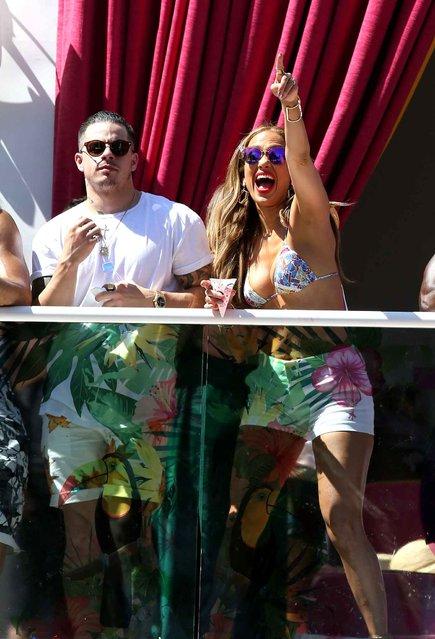 Jennifer Lopez makes Drai's Las Vegas Hosting debut at Carnival Del Sol at Drai's Beachclub at the Cromwell in Las Vegas, Nevada on May 29, 2016. (Photo by MJT/AdMedia)