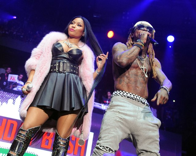 Nicki Minaj and Lil Wayne perform during surprise appearances duing the Hot 107.9 Birthday Bash at Philips Arena on June 17, 2017 in Atlanta, Georgia. (Photo by Chris McKay/Getty Images)