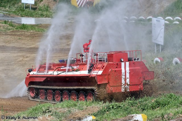 Tracked fire fighting vehicle MT-LBu-GPM-10