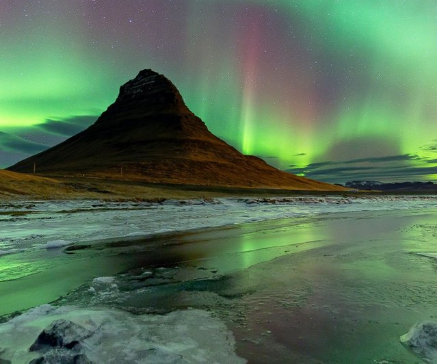 Northern Lights, Kirkjufell, West Iceland. (Photo by James Woodend)