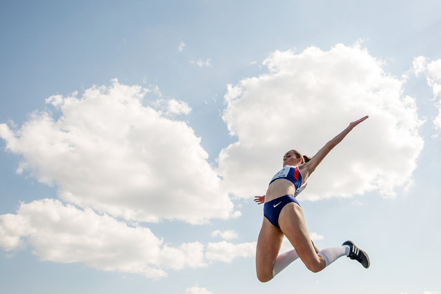 Holly Mills of Great Britain competes in the Girls Long Jump final during European Athletics Youth Championships on July 17, 2016 in Tbilisi, Georgia. (Photo by Joosep Martinson/Getty Images for European Athletics)