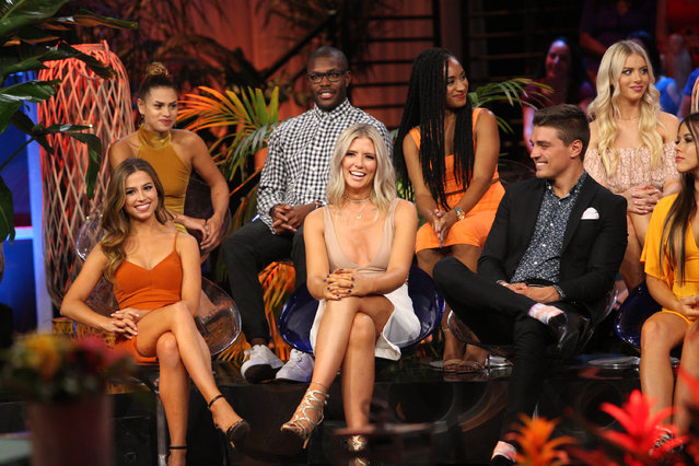 Kristina Schulman, Jaimi King, Diggy Moreland, Danielle Maltby, Dominique Alexis, Dean Unglert, Haley Ferguson and Christen Whitney at the Bachelor In Paradise, Episode 405A on September 11, 2017. (Photo by Paul Hebert via Getty Images)
