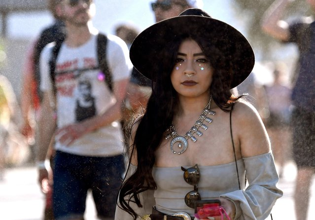 A festivalgoer during the 2018 Coachella Valley Music And Arts Festival at the Empire Polo Field on April 20, 2018 in Indio, California. (Photo by Frazer Harrison/Getty Images for Coachella)