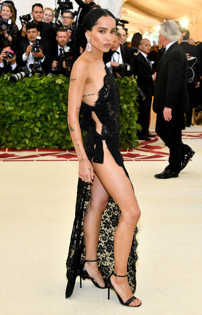 Zoë Kravitz attends the Heavenly Bodies: Fashion & The Catholic Imagination Costume Institute Gala at The Metropolitan Museum of Art on May 7, 2018 in New York City. (Photo by Dia Dipasupil/WireImage)