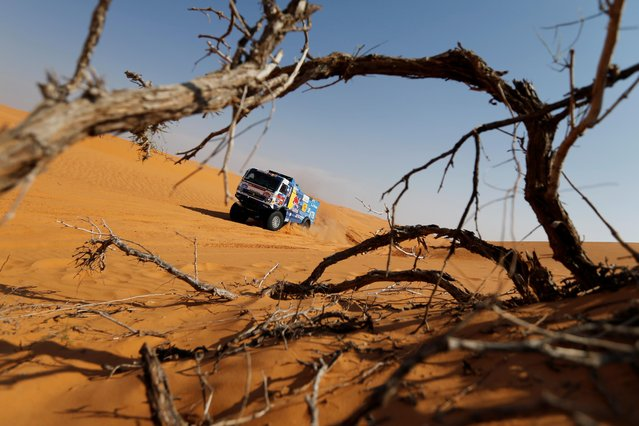 Kamaz – Master's Dmitry Sotnikov and Co-Driver Ruslan Akhmadeev in action during stage 6, Al Qaisumah to Ha'il, Saudi Arabia on January 8, 2021. (Photo by Hamad I Mohammed/Reuters)
