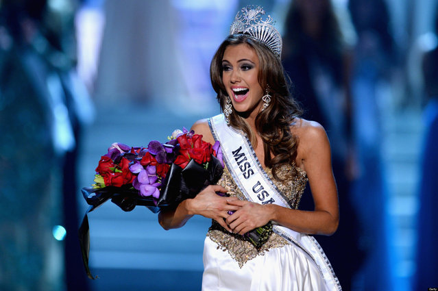 Miss Connecticut USA Erin Brady reacts after being crowned Miss USA during the 2013 Miss USA pageant at PH Live at Planet Hollywood Resort & Casino on June 16, 2013 in Las Vegas, Nevada.  (Photo by Ethan Miller)