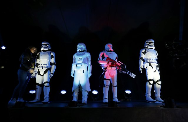 """Storm Troopers"" are seen at the world premiere of the film ""Star Wars: The Force Awakens"" in Hollywood, California, December 14, 2015. (Photo by Mario Anzuoni/Reuters)"