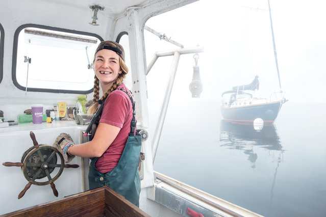 Sadie Samuels, a lobster fisher from Rockport, Maine. (Photo by Chris Crisman/The Guardian)