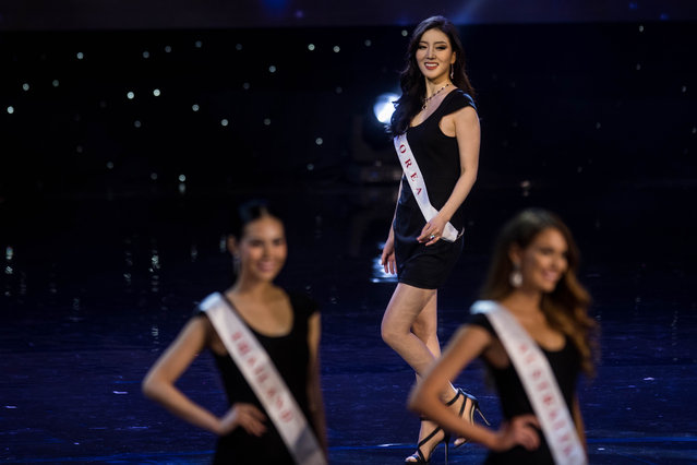 Miss South Korea Hyun Wang is pictured during the Grand Final of the Miss World 2016 pageant at the MGM National Harbor December 18, 2016 in Oxon Hill, Maryland. (Photo by Zach Gibson/AFP Photo)