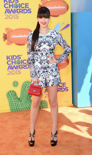 Actress/singer Elizabeth Elias attends Nickelodeon's 28th Annual Kids' Choice Awards held at The Forum on March 28, 2015 in Inglewood, California. (Photo by Jason Merritt/Getty Images)