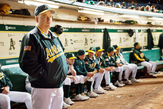"""""""Moneyball"""", Philip Seymour Hoffman, 2011. (Photo by Melinda Sue Gordon/Columbia Pictures/Everett Collection)"""
