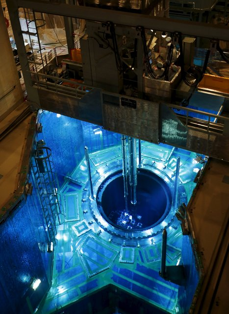 A fuel rod is inserted into a reactor vessel inside the No.1 reactor building at Kyushu Electric Power's Sendai nuclear power station in Satsumasendai, Kagoshima prefecture, Japan, July 8, 2015. (Photo by Issei Kato/Reuters)