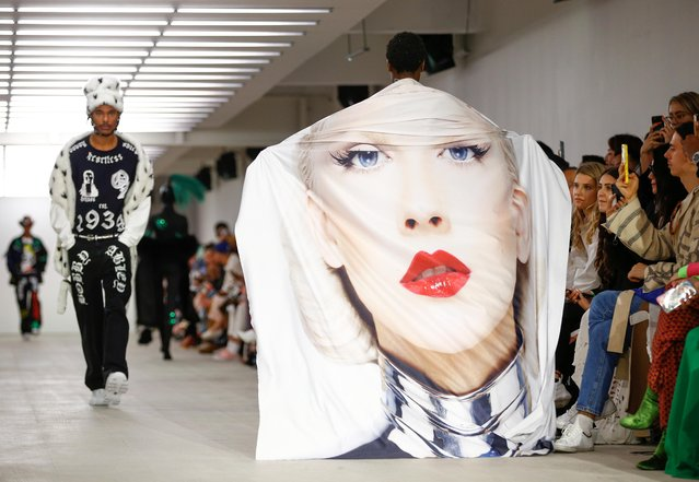 Models present creations during the Bobby Abley catwalk show at London Fashion Week in London, Britain, September 17, 2019. (Photo by Henry Nicholls/Reuters)
