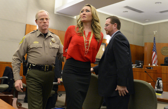 In this Jan. 15, 2015, file photo, Brianne Altice is taken into custody and ordered to stand trial in 2nd District Court in Farmington, Utah. Altice, a former Utah high school English teacher who pleaded guilty to having sexual relations with three male students, is set to be sentenced Thursday, July 9, 2015. (Photo by Leah Hogsten/The Salt Lake Tribune via AP Photo)