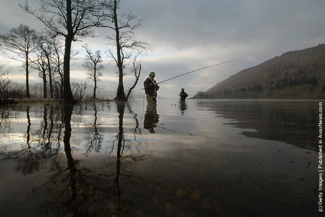 Fishing. Traditional Opening Of The Tay Salmon Season