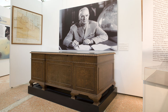 Gen. Donovan used this desk while he was Director of the Office of Strategic Services (OSS) during WWII. OSS offices were located at 2430 E Street, NW, in Washington, DC. (Photo by Central Intelligence Agency)