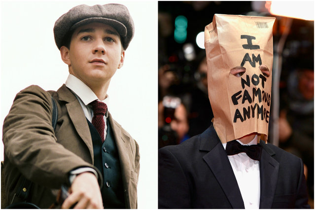 "Shia LaBeouf started as a standup comedian at age 10, then landed his big break on the Disney Channel hit ""Even Stevens"" in 2000. Fast-forward about a decade, and LaBeouf got quite messy: In 2007, LaBeouf was arrested for refusing to leave a Walgreens. In 2008, he got a DUI, then was handcuffed (but not arrested) for a bar fight in 2011. (Photo by Getty Images/Everett Collection)"