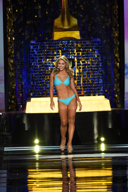 Miss Texas Margana Wood competes in the swimsuit competition of the 97th Miss America Competition in Atlantic City, New Jersey U.S. September 10, 2017. (Photo by Mark Makela/Reuters)