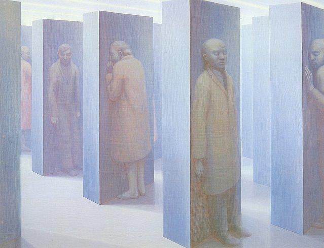 Standing Figures. Artwork by George Tooker