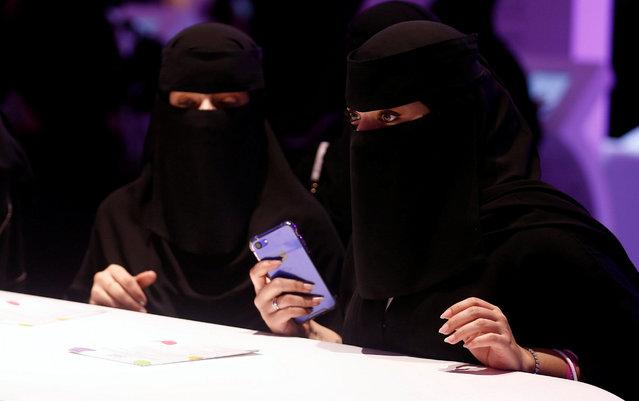 Women take part in Glowork exhibition in Riyadh, September 28, 2017. (Photo by Faisal Al Nasser/Reuters)