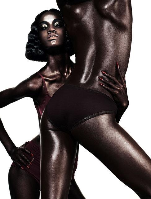 Jeneil Williams & Herieth Paul by Daniel Sannwald for Pop Fall 2012